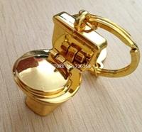 Free shipping chaveiros criativo cute keyring present fashion nightstool trinket wholesale creative metal keychain closestool