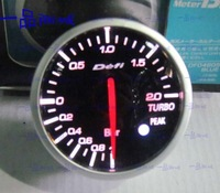 2.5 INCH 60MM Auto Defi Gauge, car meter TURBO BOOST Meter, RED and White Light