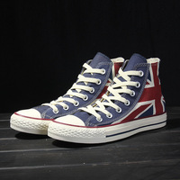 Spring 2014 fashion canvas shoes British flag canvas shoes men's shoes for women's shoes