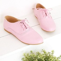 2014 new arrive fashion street fashion casual shoes flat all-match lacing flat heel women single shoes size