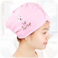 Cartoon rabbit super absorbent dry hair hat magic dry hair towel p2540