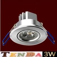 10PCS 3W AC85~265V white/warm white LED Ceiling Light LED Downlights LED Bulb Lights High quality free shipping