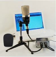 ALCTRON MC410 Large Diaphragm Condenser Recording Microphone Economic Kit for recording