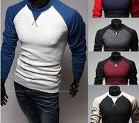 FREE SHIPPING,men's sweaters, long sleeve raglan sleeve slim sweater pullover sweater men's clothing T-shirts2467