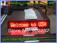 Hot Free Ship,1pcs;16*96 pixels,Led Car Advertising,DC 9V-36V,Led Moving Display,Remote Keyboard,Wireless+RS232,Red,Manufacturer