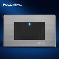 Free Shipping,POLO Luxury Light Switch ,118MM*72MM, LED Switch Panel, Wall switch ,110~250V,1 Gang 2 Way US/AU/CA Switch livolo