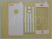 Full Body Color Leather Sticker Screen Protector For iphone 4 4s 4g 5 5s 5gDHL free 1500pcs/lot