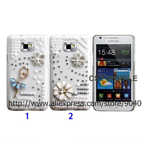 Bling Bling Diamond Clear Hard Back case for Samsung Galaxy S2 i9100 bling diamond case for girls(China (Mainland))
