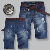 Free shipping 2014 new men's sports shorts  Casual Shorts  outwear top brand men's denim shorts 905