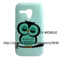 Cartoon Owl Owls soft Glitter tpu gel case for Moto G DVX XT1032 case cover