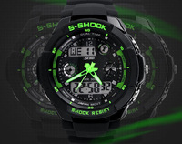 Mens watch navy military shockproof waterproof sports  watch luminous watch dual display 0931