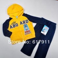 Wholesale lot spring 2014 New Thomas Boys clothing sets children outerwear 2pcs kids jackets & coats boys fleece hoodies + pants