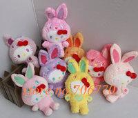 LOTS 8PCS/SET Sanrio Hello Kitty cosplay bunny rabbit Stuffed Doll Plush toy FREE SHIPPING IN HAND!