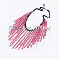Free shipping multilayer geometric Chain necklace restoring ancient ways Fashion personality tassel necklacet paragraph
