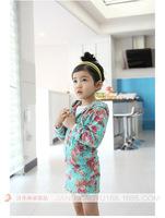 High Quality Flower Print Girl Skirt Set + Coat Spring Autumn Fashion Baby Clothes Set Dress New Girl Coat Skirt