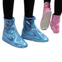 Rain shoes cover flat heel fashion waterproof shoes cover thickening male slip-resistant women's rainboots