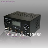 1 piece Digital Dual Stainless Steel Tattoo Power Supply free shipping