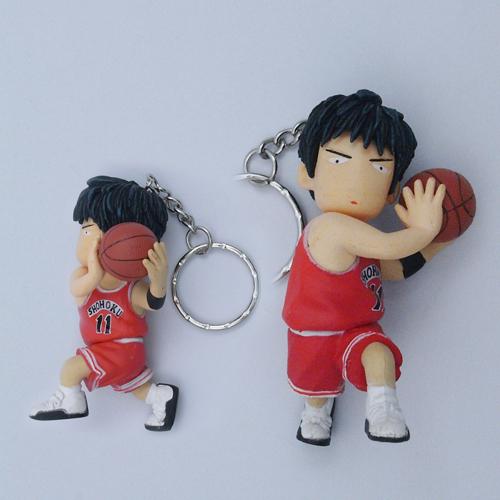 6.2CM Slam Dunk Basketball PVC Figure Keychain(China (Mainland))