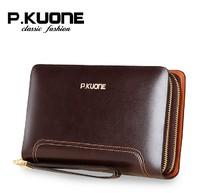 2014 Brand New Vintage Men's Genuine Leather Day Clutch Wallets Men's Cowhide Clutch Bags / Handbags Fashion Men Wallet