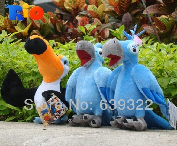 EMS RIO plush Toy RIO Character Plush Doll Toys RIO Movie Blu & Jewel & Rafael Plush toy dolls 102pcs/lot(China (Mainland))