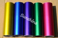 Guarantee 100% 1.52x20m full car body sticker matte chrome Ice Vinyl red/ blue/pink/purple/orange/Black  vinyl film