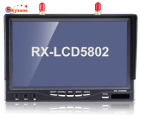 Skyzone RX-LCD5802 5.8GHz LCD Diversity Receiver 7 Inch Monitor Built-in Battery and Charger Optional
