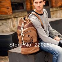 Designer duffle bags canvas travel bag,Vintage backpacks for school canvas laptop bag,men canvas bucket  bag