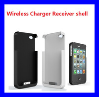 Free Shipping Wireless Charger Receiver shell For iphone 4/4s Mobile Phone  Charger