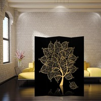 Double faced reredos partition fabric fashion home decoration waterproof chinese style off screen