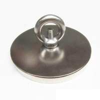 neodymium magnet 50 rare earth magnets Neodymium Magnet Block 100*10MM with hole 8MM countersunk magnet round