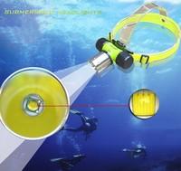 Waterproof CREE XML T6 1800 Lumen underwater 60m LED Diving Flashlight Headlamp Headlight Dive head light & Free Shipping