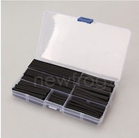 150pcs 2:1 Heat Shrink Tubing Tube Sleeving Wire Cable 8 Sizes 2-13mm Black