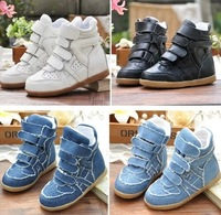 2014 hot selling isabel marant children high top shoes fashion casual shoes for kids canvas shoes size 26-34