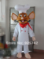 cartoon mouse mascot with white hat quality foam head cartoon mascot costume Chefs mouse toys