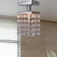 Free shipping  Mini Semi Flush Mount in european chandelier crystal (Chrome Finish) 1 G9