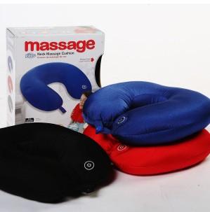 Em forma de U envio gratuito de massagem do pescoço almofada massageador pescoço Massage Pillow elétrico para trabalhador de escritório ou espondilose cervical(China (Mainland))