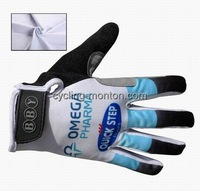 2014 QUICK STEP Cycling Gloves Thermal Fleece Long Finger cycling jersey Shock resistant gloves fitness clothes cycling tight