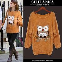 Fashion women's fashion sweet 2013 yarn top thermal thickening sweater shirt