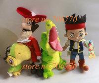 LOTS retail~ Jake The Neverland Pirates Skully Jake Captain Hook Tick-Tock Crocodile Friends Parrot Plush dolls toy Stuffed
