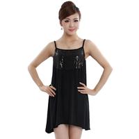 Free shipping 2013 plus size clothing mm fashion thin plus size spaghetti strap basic