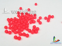 Round beads space bean beads fishing bait fishing supplies accessories dia:8mm red 200pcs/lot Free shipping