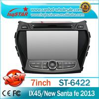 Free shipping!!! Auto dvd player for  Hyundai IX45/New Santa fe 2013 with GPS Radio TV 3G DVD RDS dual zone steering