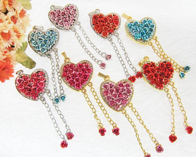 Hot Best selling Jewelry Rose Love USB Drive Flash pendrive gift pen drive Diamond 4GB 8GB 16GB 32GB Free Shipping(China (Mainland))