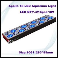 free shipping Promotion! new 648W(216x3w) Apollo 18 Led aquarium light/Led reef coral tank light