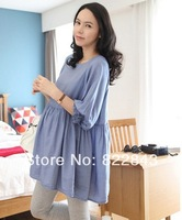 Maternity clothing spring and summer 2014  fashion plus size Cotton Three Quarter