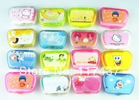 beautiful contact lens cases 50pcs, with mirror, tweezers, sticker