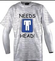 Custom Funny Shirts Need Head Grey  Man O-Neck t shirt Boy Girl Printed  Diy T-Shirt Free Shipping
