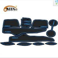 Free shipping Corolla Rubber car door mat auto anti slip mat, non-slip mats Interior door pad/cup mat For Toyota Corolla Sticker