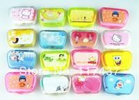 luxury contact lens cases 10pcs, with mirror, tweezers, sticker