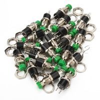 Mini Momentary Micro On-Off Switch Green Push Button Pack of 20
